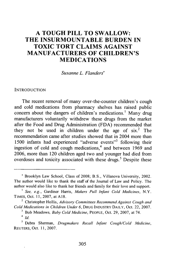 handle is hein.journals/jlawp16 and id is 309 raw text is: A TOUGH PILL TO SWALLOW: