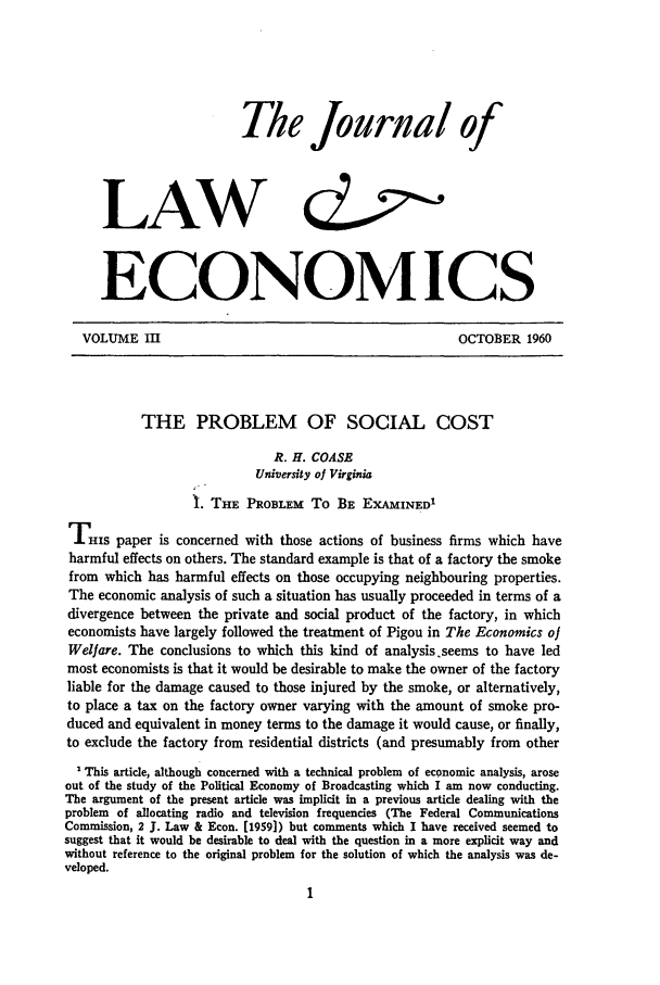 handle is hein.journals/jlecono3 and id is 1 raw text is: The Journal of