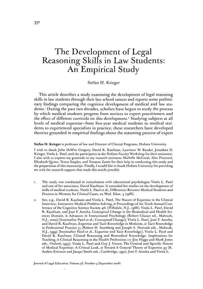 handle is hein.journals/jled56 and id is 340 raw text is: The Development of Legal