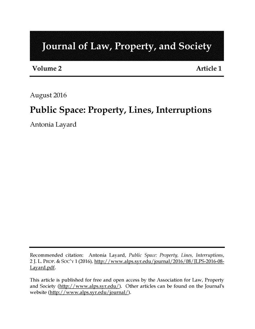 handle is hein.journals/jlpros2 and id is 1 raw text is: 
