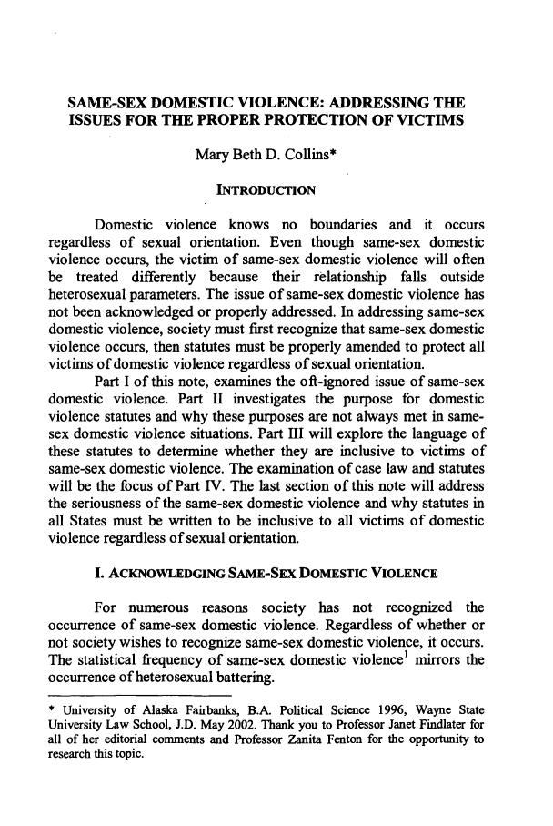 same sex domestic violence research topics in Lubbock