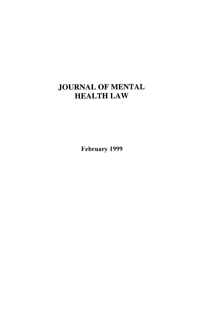 handle is hein.journals/jmhl1 and id is 1 raw text is: JOURNAL OF MENTAL