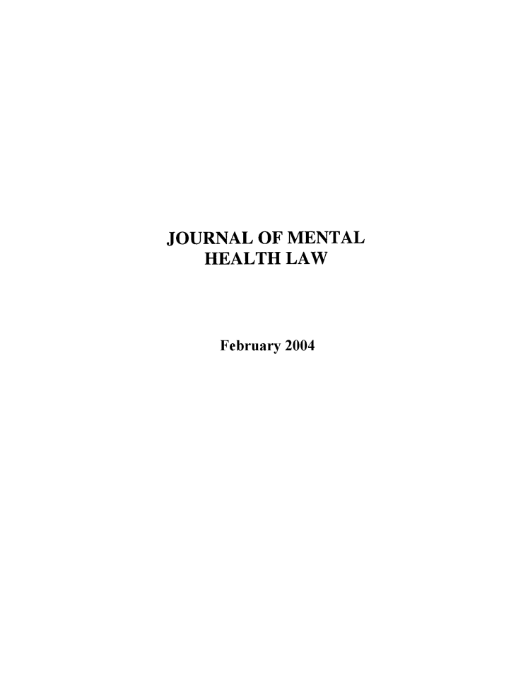 handle is hein.journals/jmhl10 and id is 1 raw text is: JOURNAL OF MENTAL