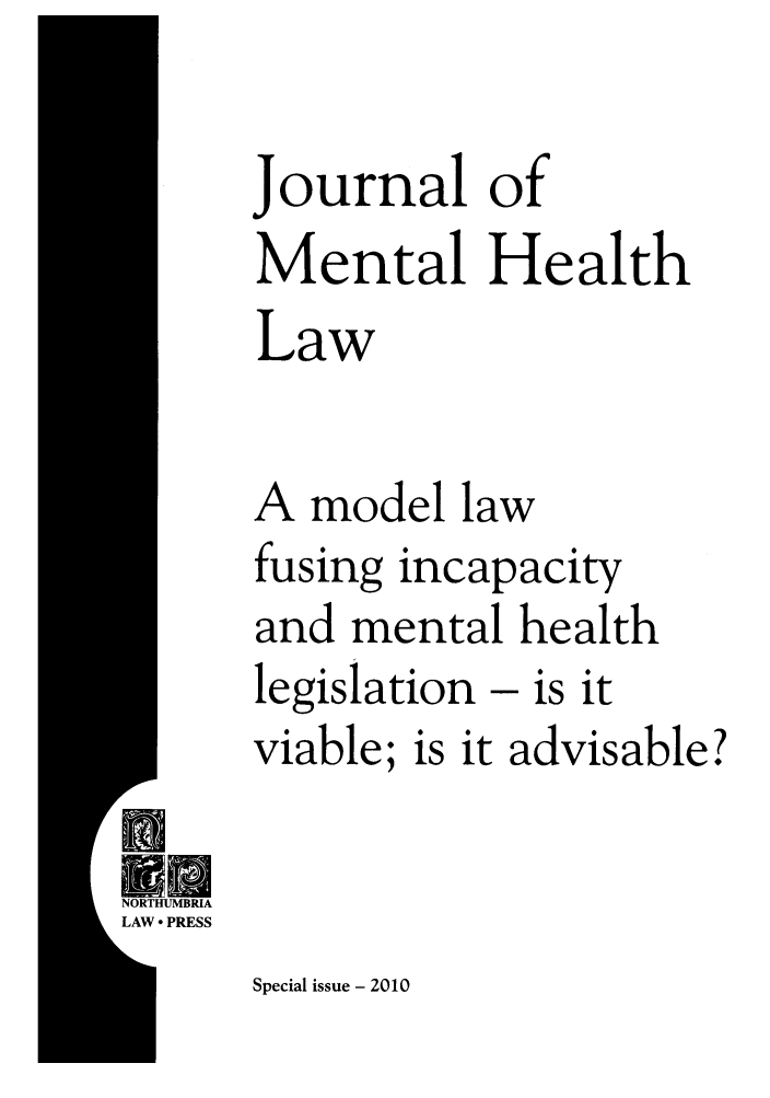 handle is hein.journals/jmhl20 and id is 1 raw text is: Journal of