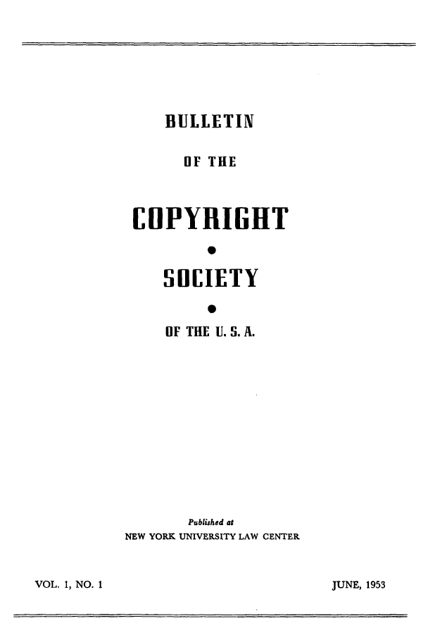 handle is hein.journals/jocoso1 and id is 1 raw text is: BULLETIN