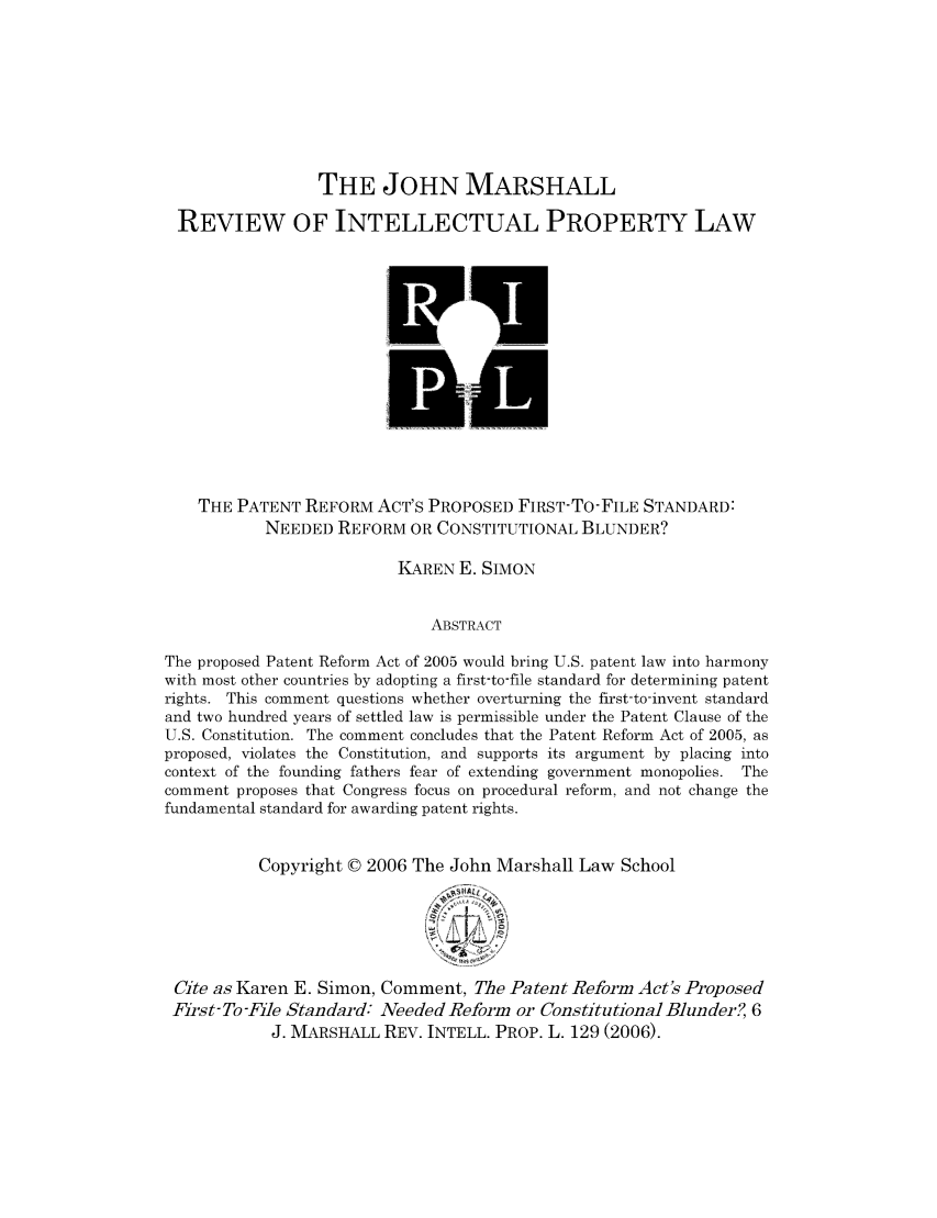 handle is hein.journals/johnmars6 and id is 149 raw text is: THE JOHN MARSHALL