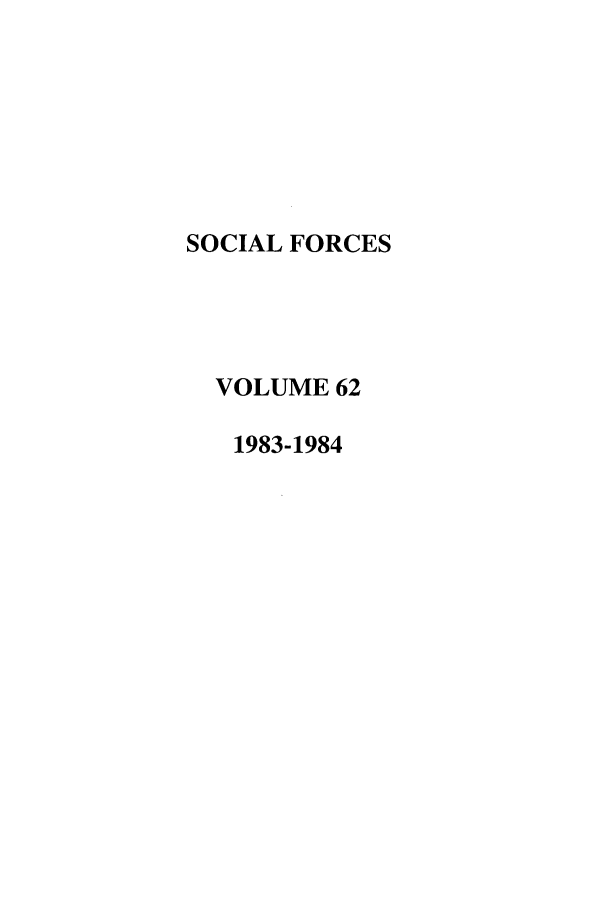 handle is hein.journals/josf62 and id is 1 raw text is: SOCIAL FORCES
