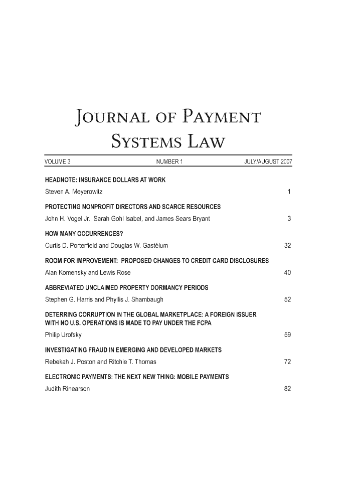 handle is hein.journals/jpaysy3 and id is 1 raw text is: JOURNAL OF PAYMENT