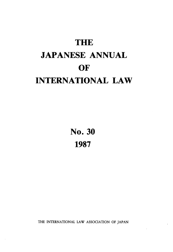 handle is hein.journals/jpyintl30 and id is 1 raw text is: THE