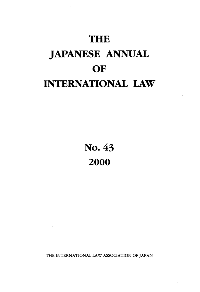 handle is hein.journals/jpyintl43 and id is 1 raw text is: THE
