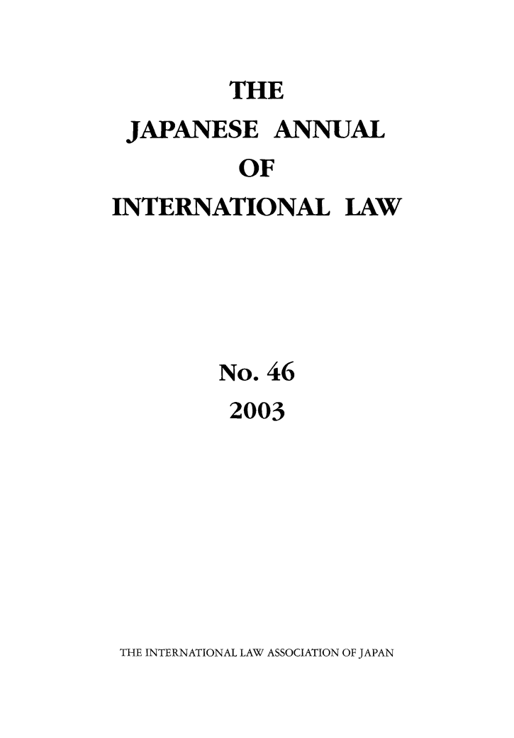 handle is hein.journals/jpyintl46 and id is 1 raw text is: THE