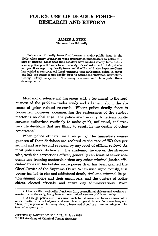 Police Use Of Deadly Force Research And Reform Review Article   What Is Heinonline Example Of Essay With Thesis Statement also English Essay On Terrorism  Essays With Thesis Statements