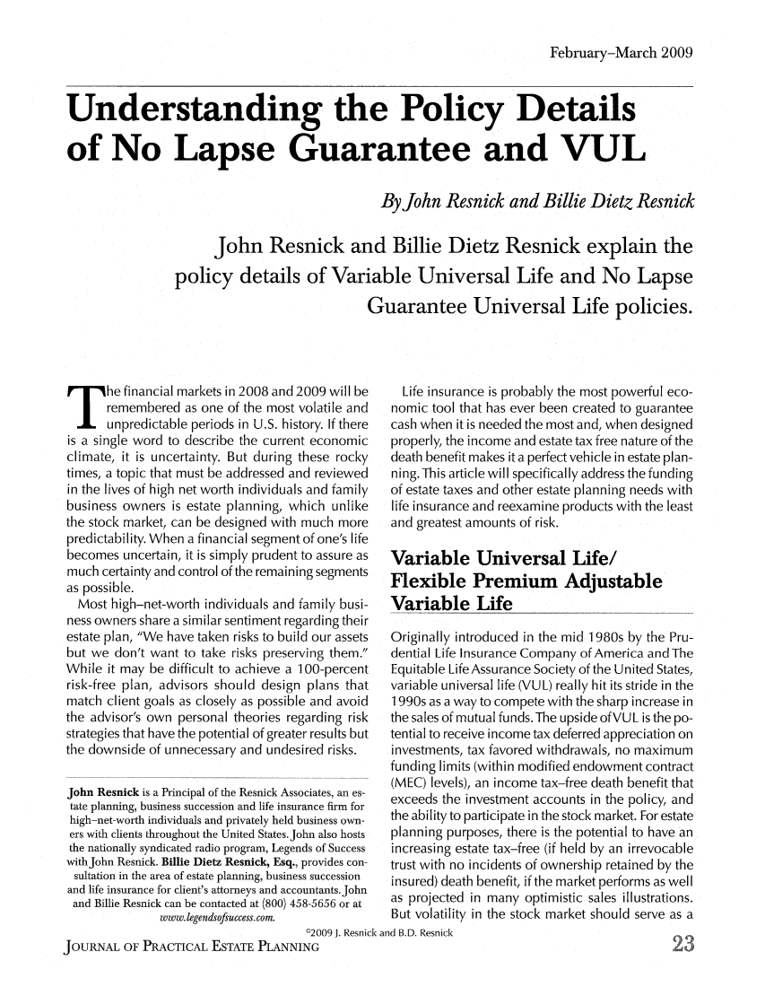 Understanding the Policy Details of No Lapse Guarantee and ...