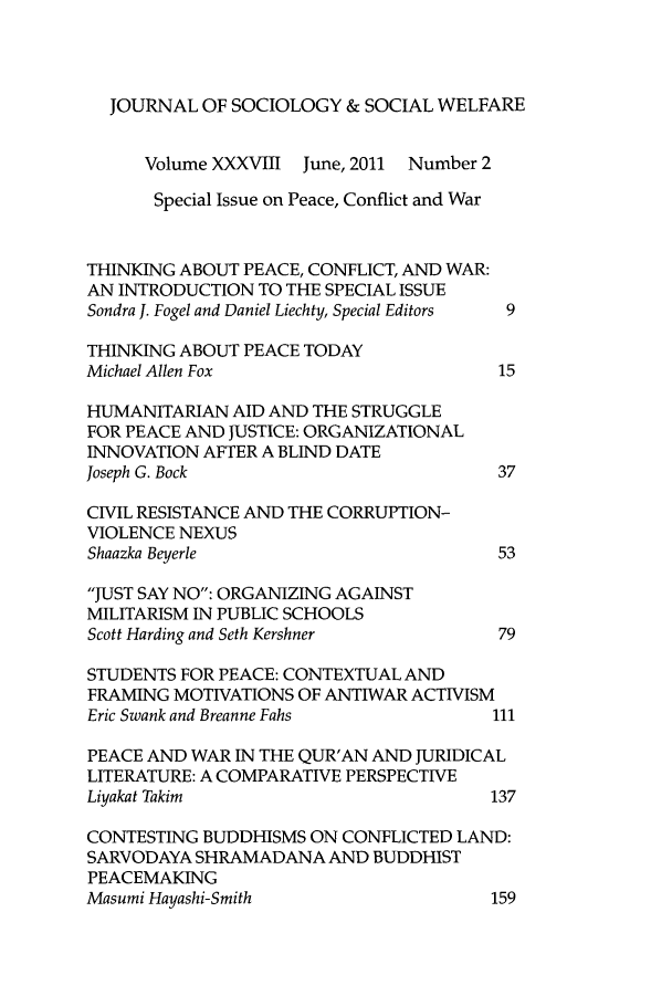 handle is hein.journals/jrlsasw38 and id is 203 raw text is: JOURNAL OF SOCIOLOGY & SOCIAL WELFARE