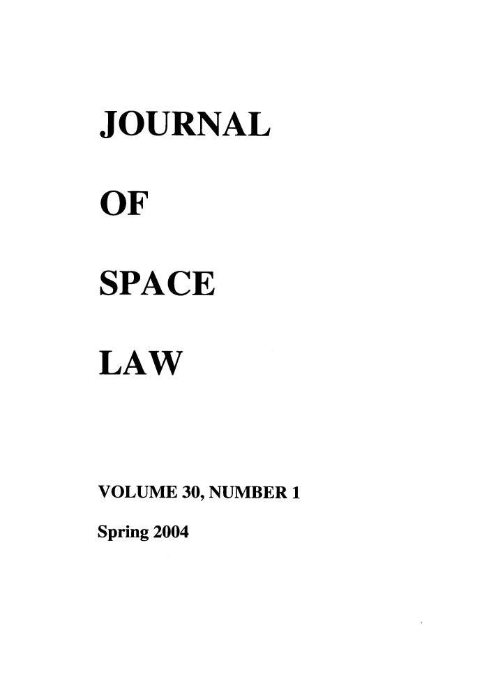 handle is hein.journals/jrlsl30 and id is 1 raw text is: JOURNAL
