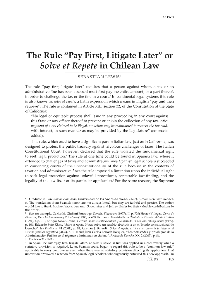 handle is hein.journals/jrnatila8 and id is 111 raw text is: S LEWIS