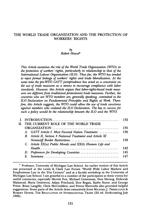 an introduction to the stake of labor in the world trade organization Stake in an organization, in what it does, and in how well it performs suppliers, the government, trade and other unions, local communities, special interest.