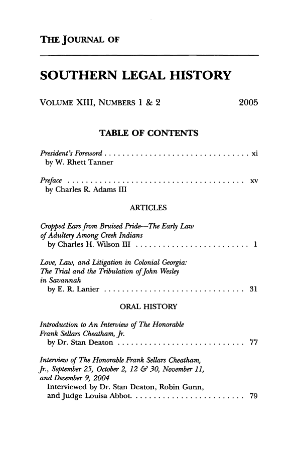 handle is hein.journals/jslh13 and id is 1 raw text is: THE JOURNAL OF