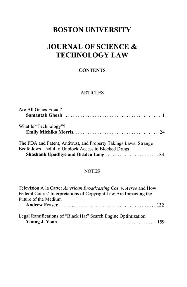 handle is hein.journals/jstl20 and id is 1 raw text is: BOSTON UNIVERSITY