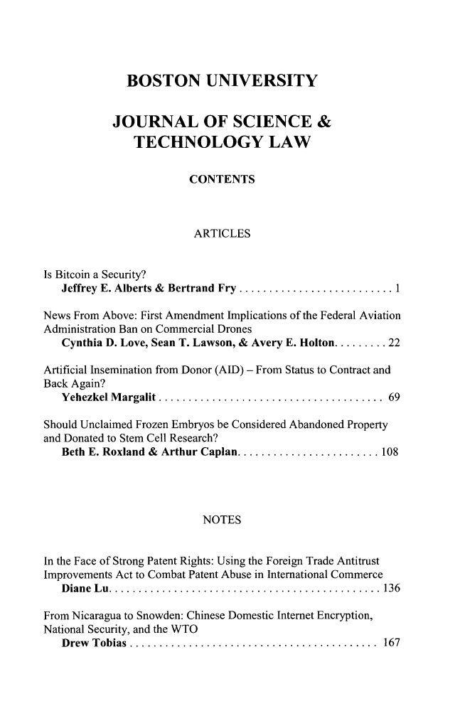 handle is hein.journals/jstl21 and id is 1 raw text is: 