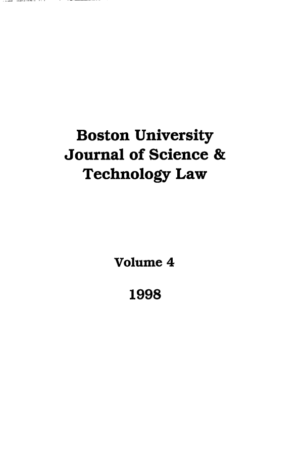 handle is hein.journals/jstl4 and id is 1 raw text is: Boston University