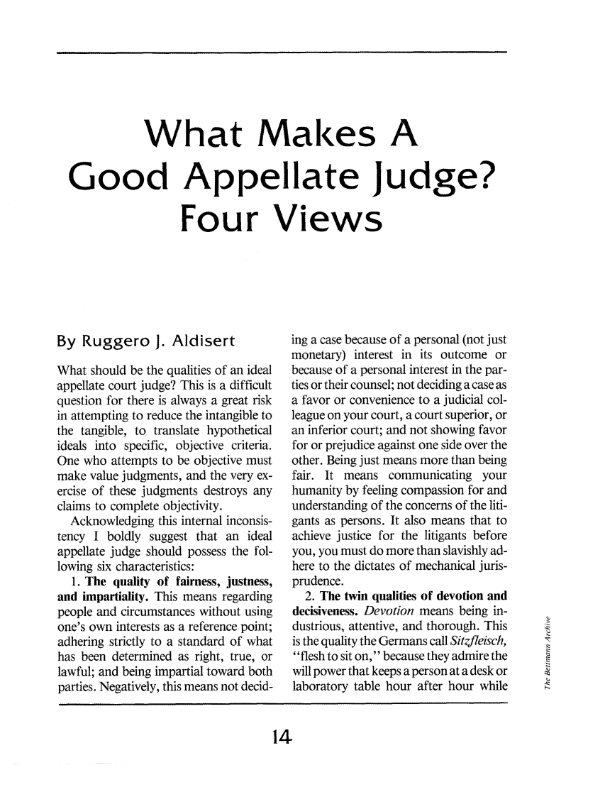 Judge Questions The Worth Of An Allegedly Illicit Tattoo: What Makes A Good Appellate Judge