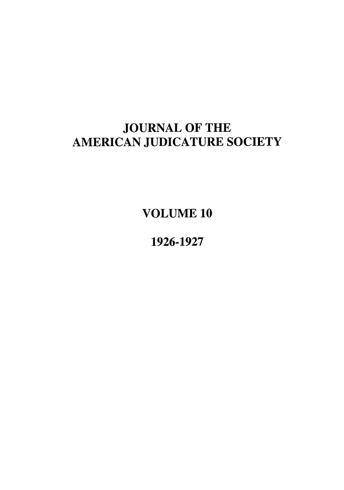 handle is hein.journals/judica10 and id is 1 raw text is: JOURNAL OF THE