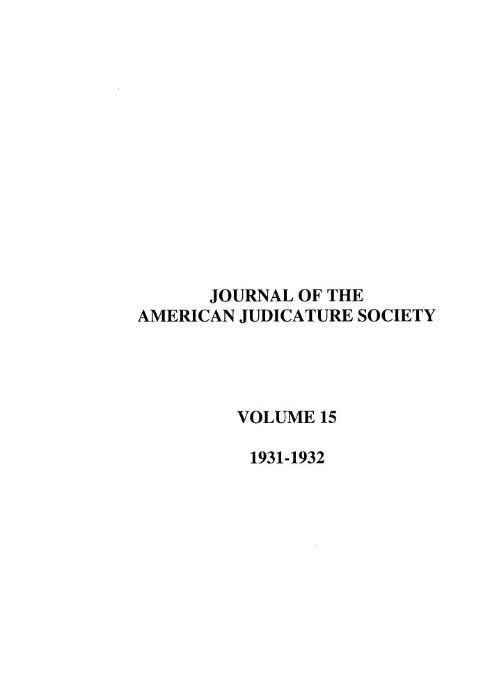 handle is hein.journals/judica15 and id is 1 raw text is: JOURNAL OF THE