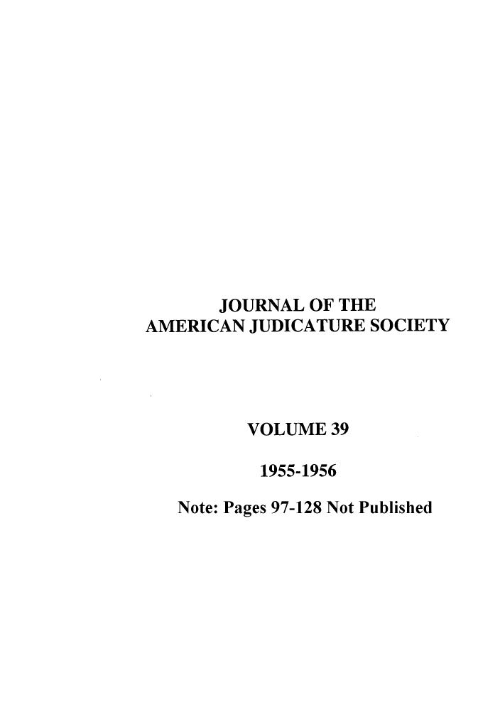 handle is hein.journals/judica39 and id is 1 raw text is: JOURNAL OF THE
