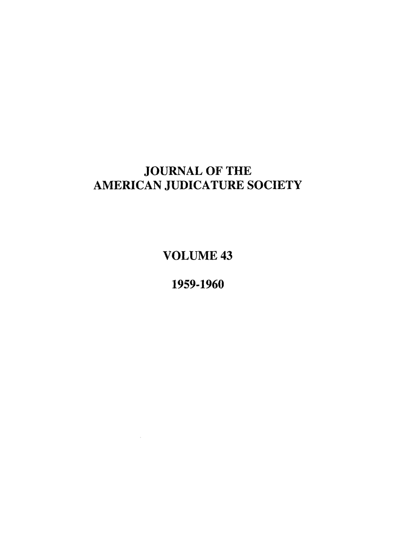 handle is hein.journals/judica43 and id is 1 raw text is: JOURNAL OF THE