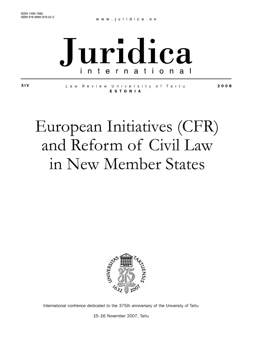 handle is hein.journals/jurdint14 and id is 1 raw text is: 