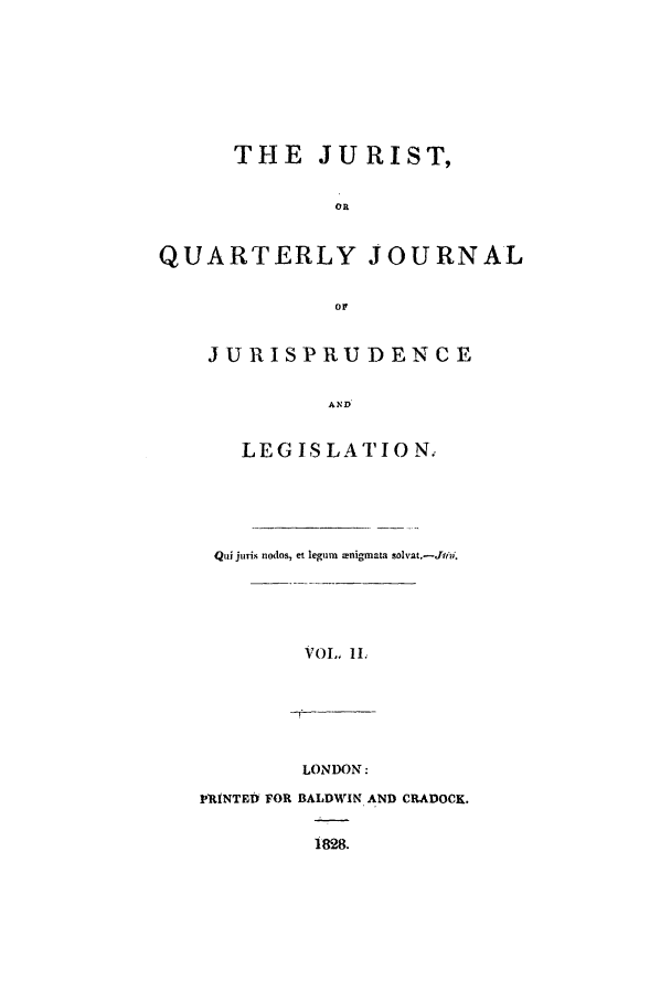 handle is hein.journals/jurist2 and id is 1 raw text is: THE JURIST,
