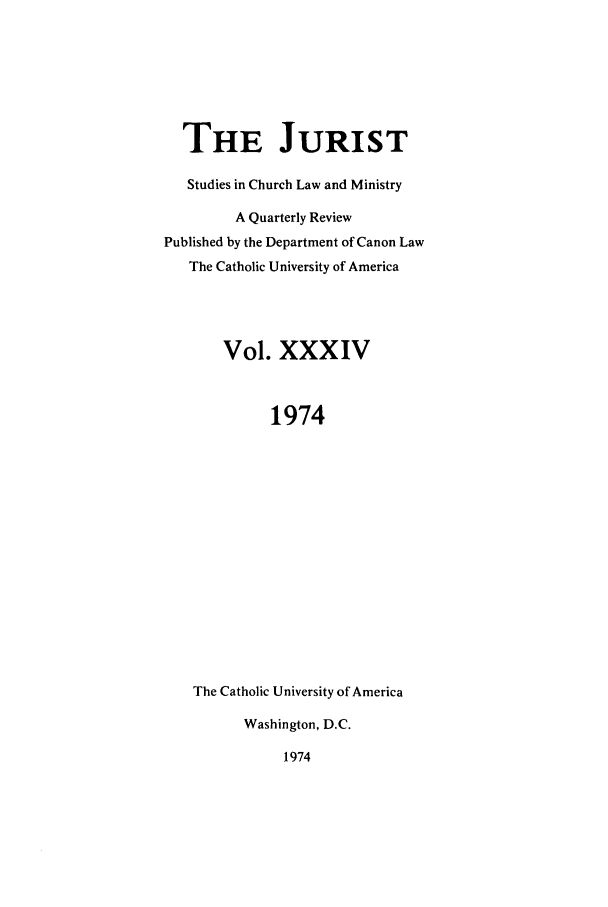 handle is hein.journals/juristcu34 and id is 1 raw text is: THE JURIST