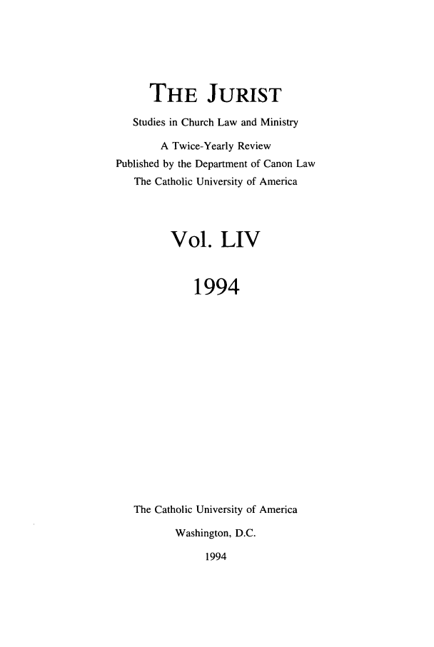 handle is hein.journals/juristcu54 and id is 1 raw text is: THE JURIST