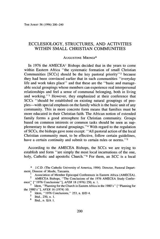 handle is hein.journals/juristcu56 and id is 210 raw text is: THE JURIST 56 (1996) 200-240