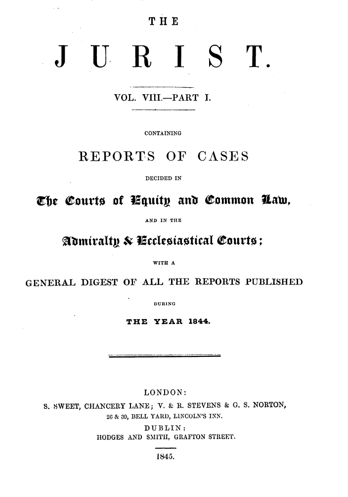 handle is hein.journals/jurlonos8 and id is 1 raw text is: THE