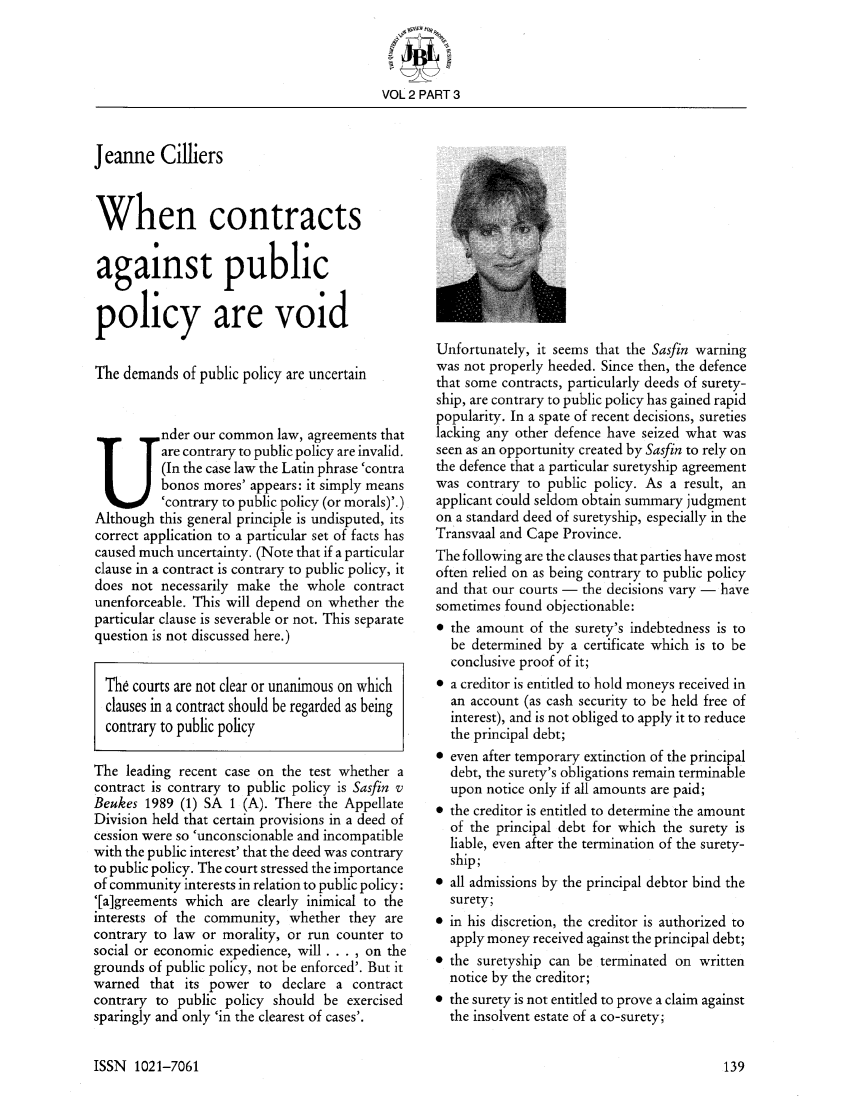 void contract in business law