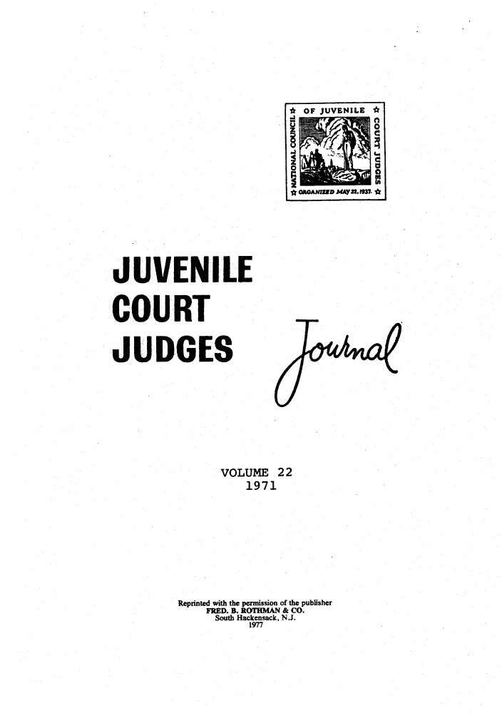 handle is hein.journals/juvfc22 and id is 1 raw text is: 