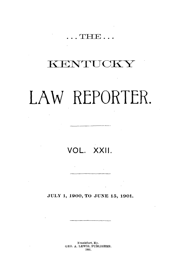 handle is hein.journals/kntwrep22 and id is 1 raw text is: ... TH E...