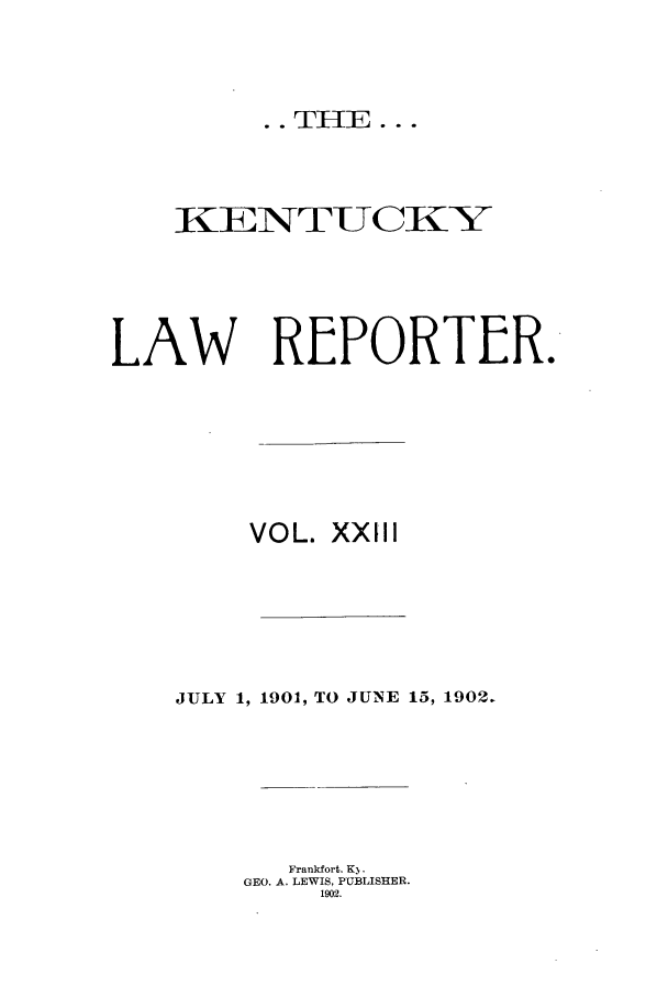 handle is hein.journals/kntwrep23 and id is 1 raw text is: .. THE...