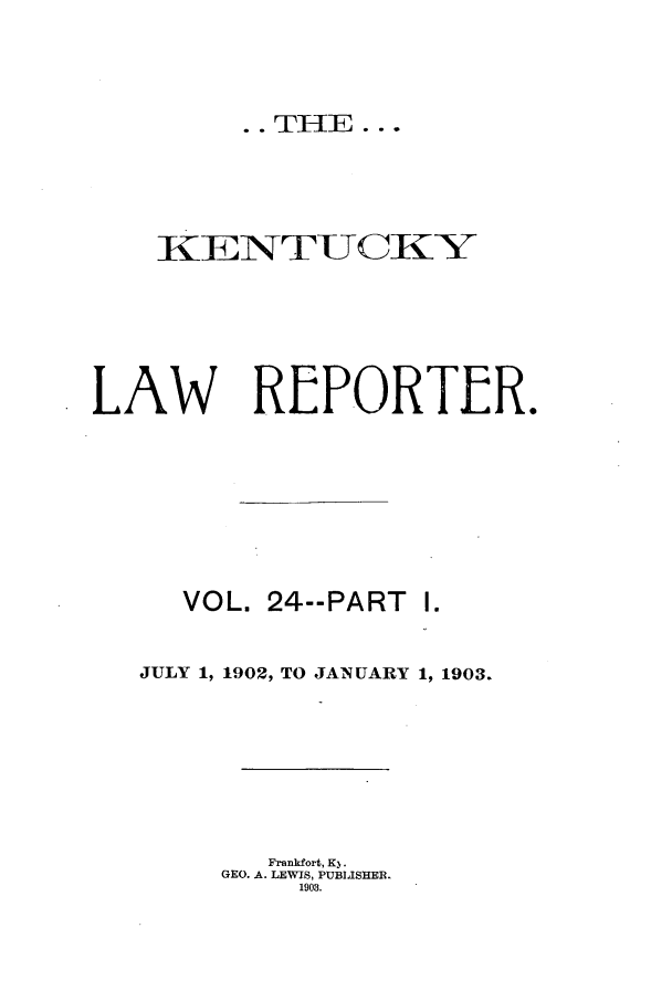handle is hein.journals/kntwrep24 and id is 1 raw text is: .. THE ...