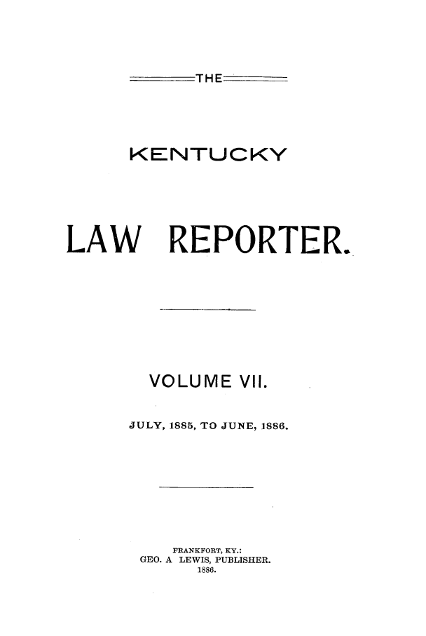handle is hein.journals/kntwrep7 and id is 1 raw text is: THE
