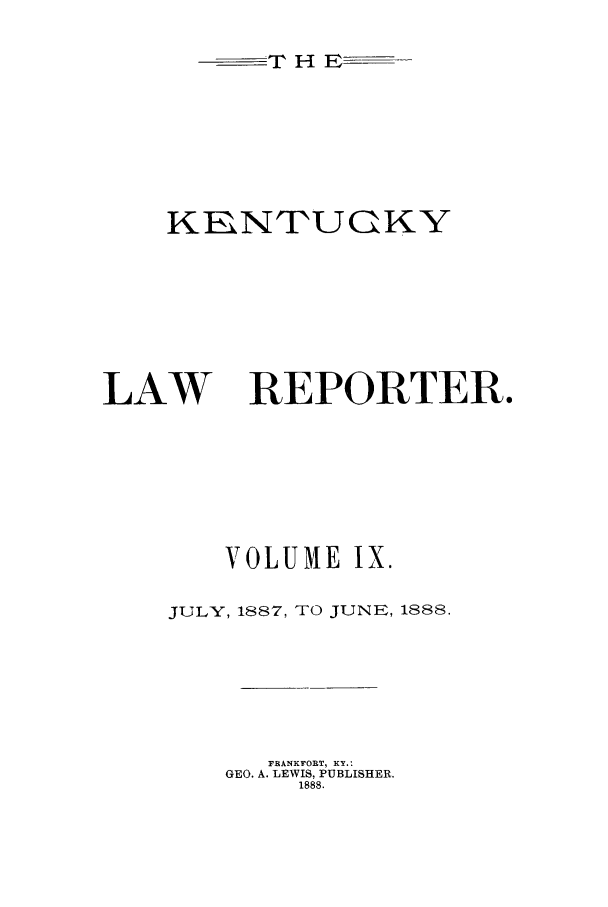 handle is hein.journals/kntwrep9 and id is 1 raw text is: T H E--