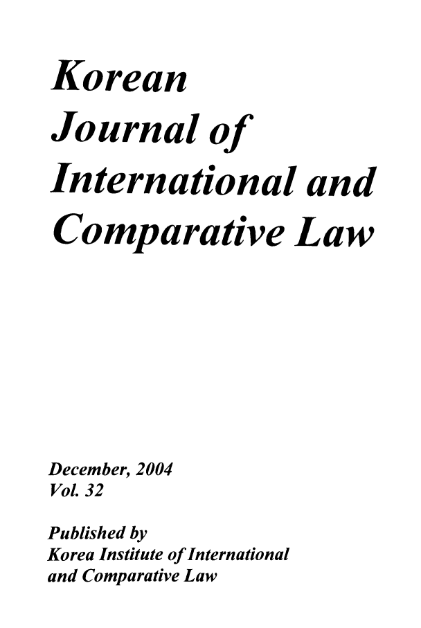 handle is hein.journals/ktilc32 and id is 1 raw text is: Korean