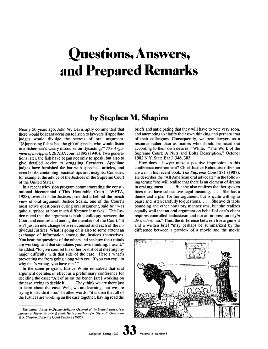 Questions, Answers, and Prepared Remarks Appeals 15
