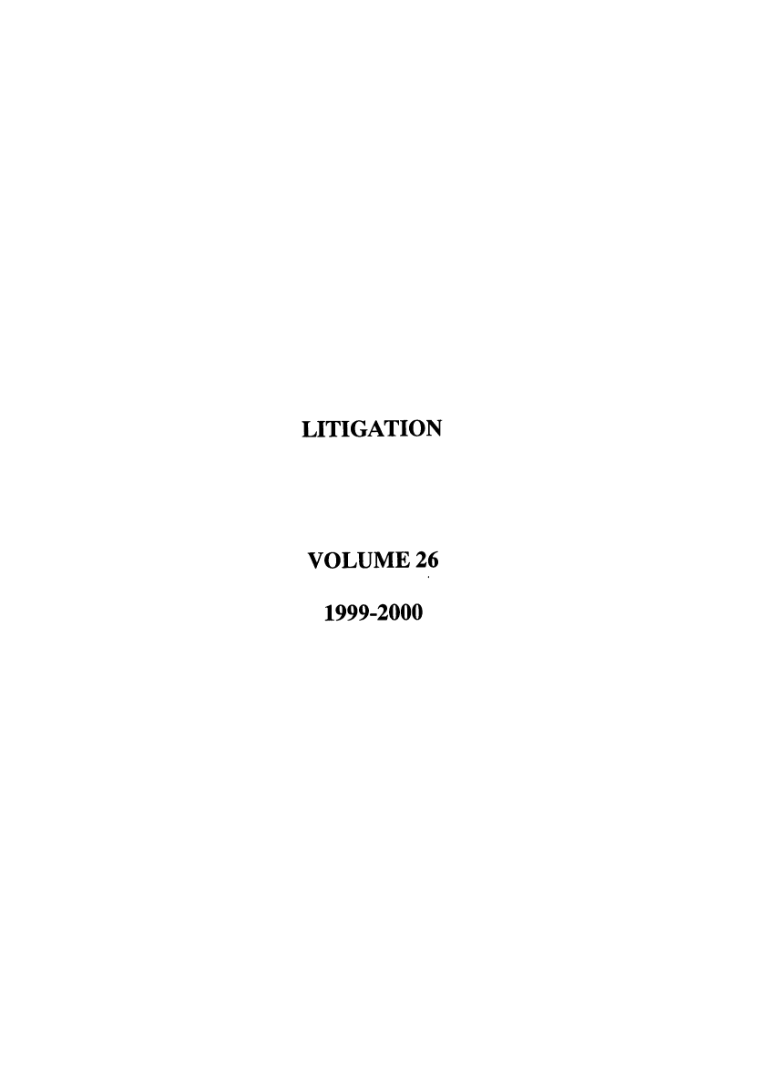 handle is hein.journals/laba26 and id is 1 raw text is: LITIGATION
