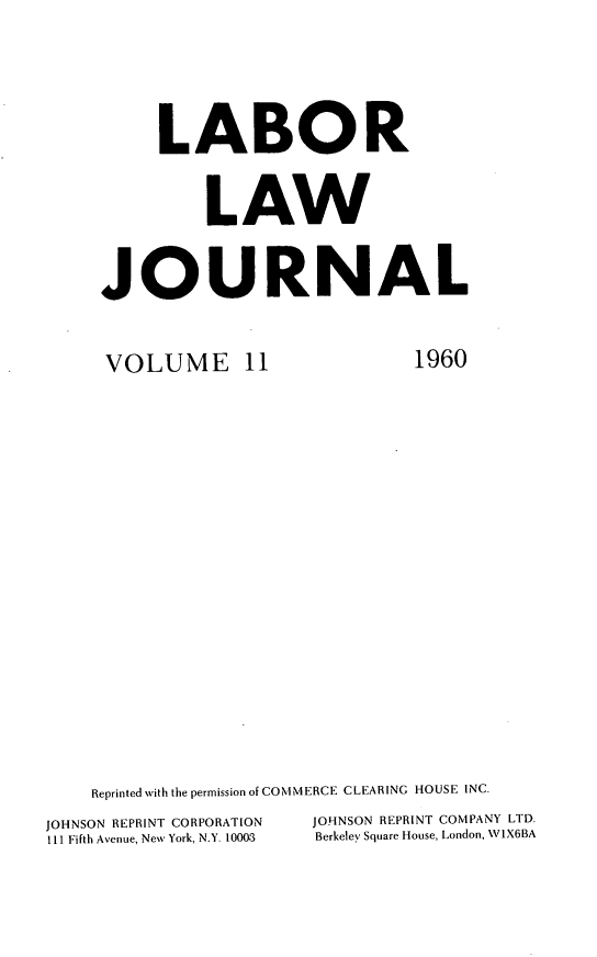 handle is hein.journals/labljo11 and id is 1 raw text is: LABOR