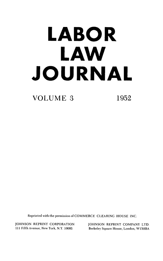 handle is hein.journals/labljo3 and id is 1 raw text is: LABOR