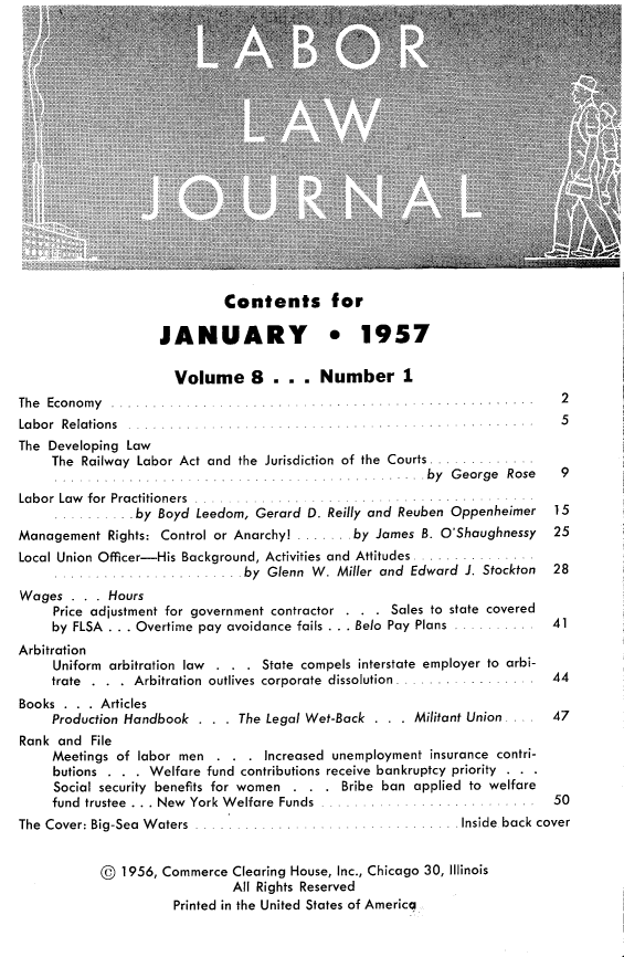 handle is hein.journals/labljo8 and id is 1 raw text is: Contents for