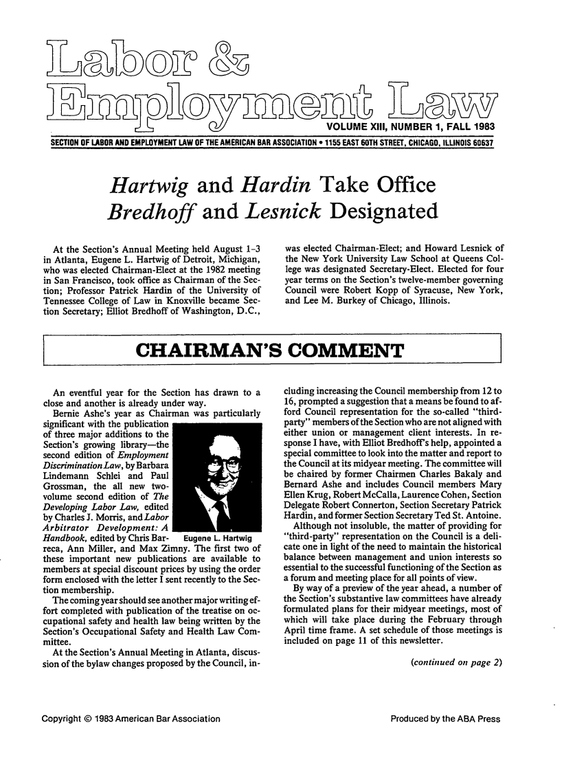 handle is hein.journals/laboemplo13 and id is 1 raw text is: 